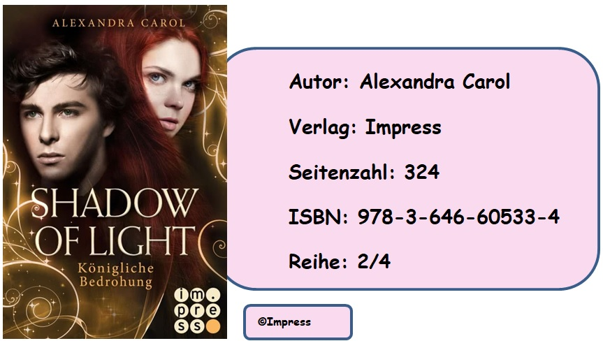 [Rezension] Shadow of Light, Band 2: Königliche Bedrohung