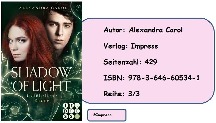 [Rezension] Shadow of Light, Band 3: Gefärliche Krone